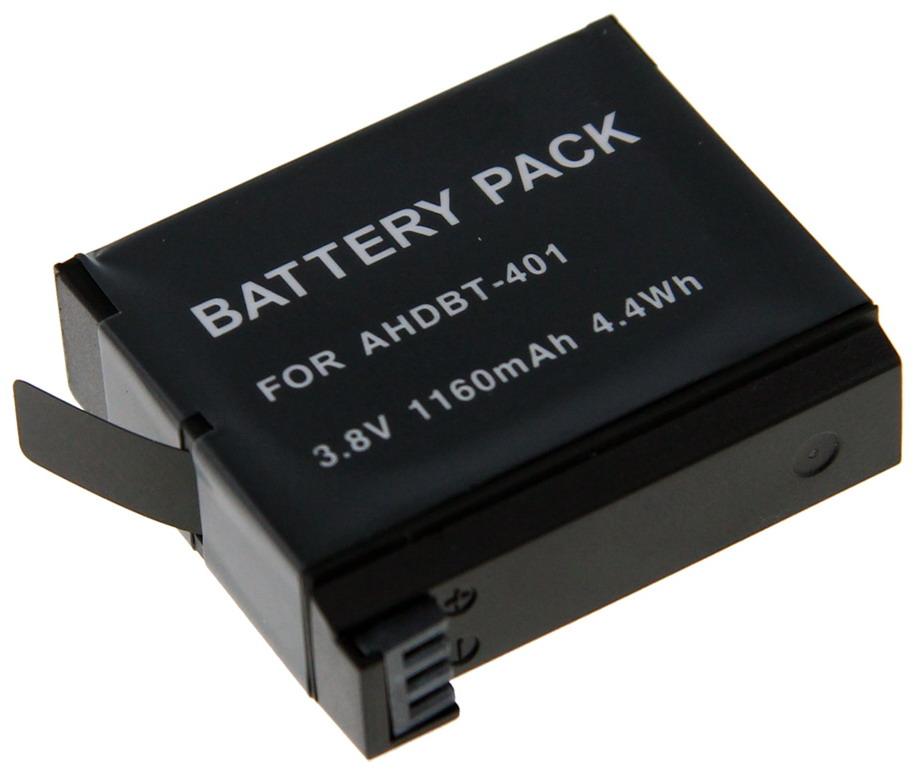 Kamera batteri AHDBT-401 til GoPro Hero4