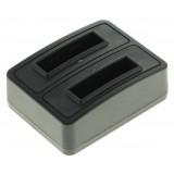 Dobbeltoplader til to batterier Canon NB-4L