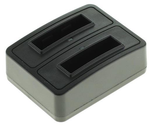 Dobbeltoplader til to batterier Pentax D-Li63 og D-Li108