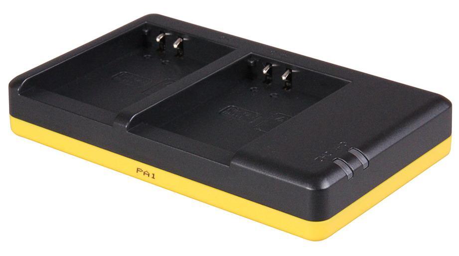 Dobbeltoplader til 2 batterier Olympus BLN-1