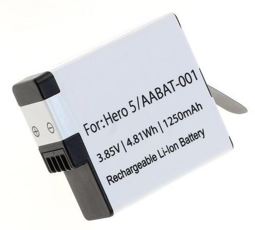 Kamera batteri AABAT-001 til GoPro Hero5, Hero6, Hero7