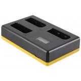 Triple oplader Nikon EN-EL14 / EN-EL14a - Oplader til 3 batterier, samtidigt